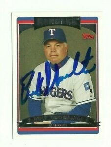 Buck-Showalter-2006-Topps-autographed-auto-signed-card-Rangers