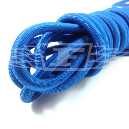 BLUE STRONG ELASTIC BUNGEE ROPE SHOCK CORD TIE DOWN FREE POST 6mm x 10 METERS