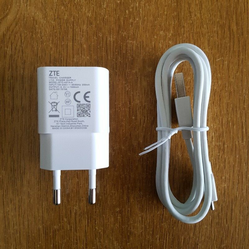 ZTE USB PHONE CHARGER TRAVEL ADAPTER | EXCELLENT CONDITION, NEVER USED