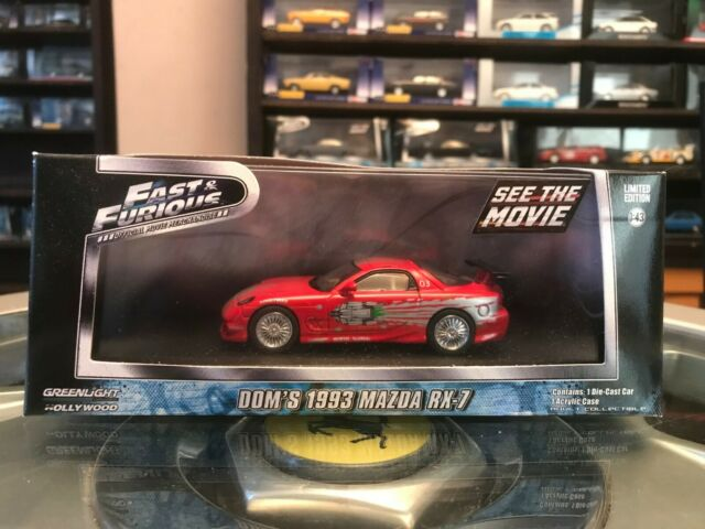 Mazda RX-7 Rot Coupe 1993 Dom Vin Diesel Fast and Furious 1//43 Greenlight Mode..