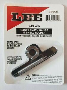 Lee 90119 Case Length Gauge and Shellholder 243 Win