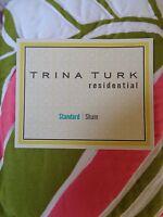 Trina Turk Residential Tiger Leaf Pink Green Standard Pillow Sham