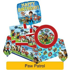 PAW-PATROL-Birthday-Party-Range-Tableware-Balloons-Banners-amp-Decorations