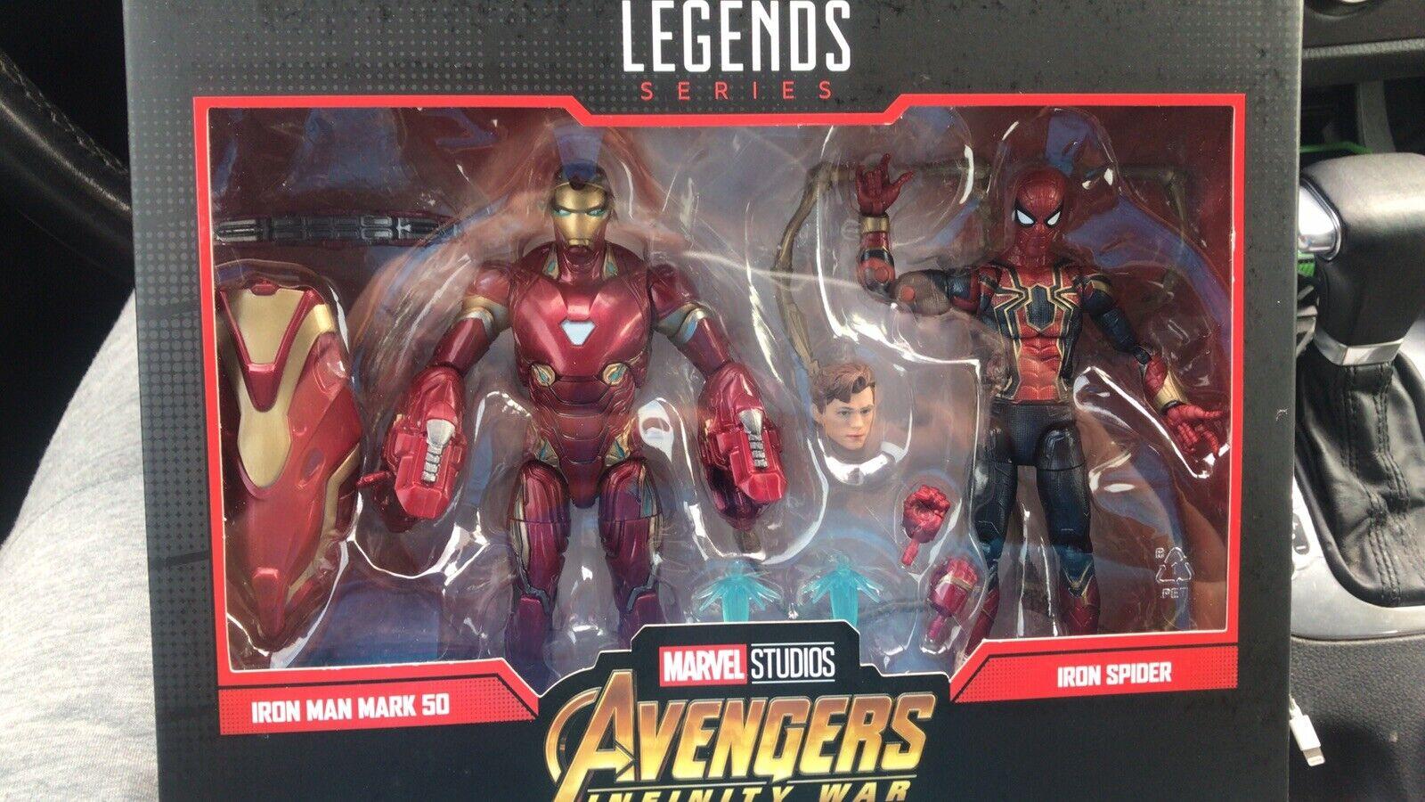 Marvel Leyendas Iron Spider Iron Man 80th aniversario Infinity 2 Paquete de Destino de guerra