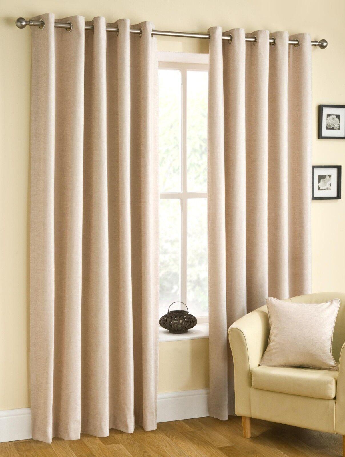 Une paire de Belfield Plain De De De Luxe Chenille Rico œillets en-tête de rideaux doublés | Un Approvisionnement Suffisant  ba5be5