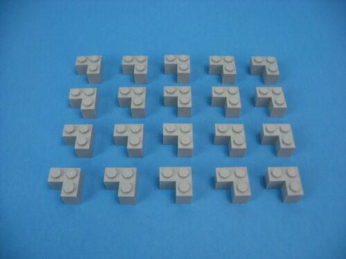 Lot 20 LEGO Old Light Gray Modified Brick 2 x 2 CORNER Edge Frame Base #2357