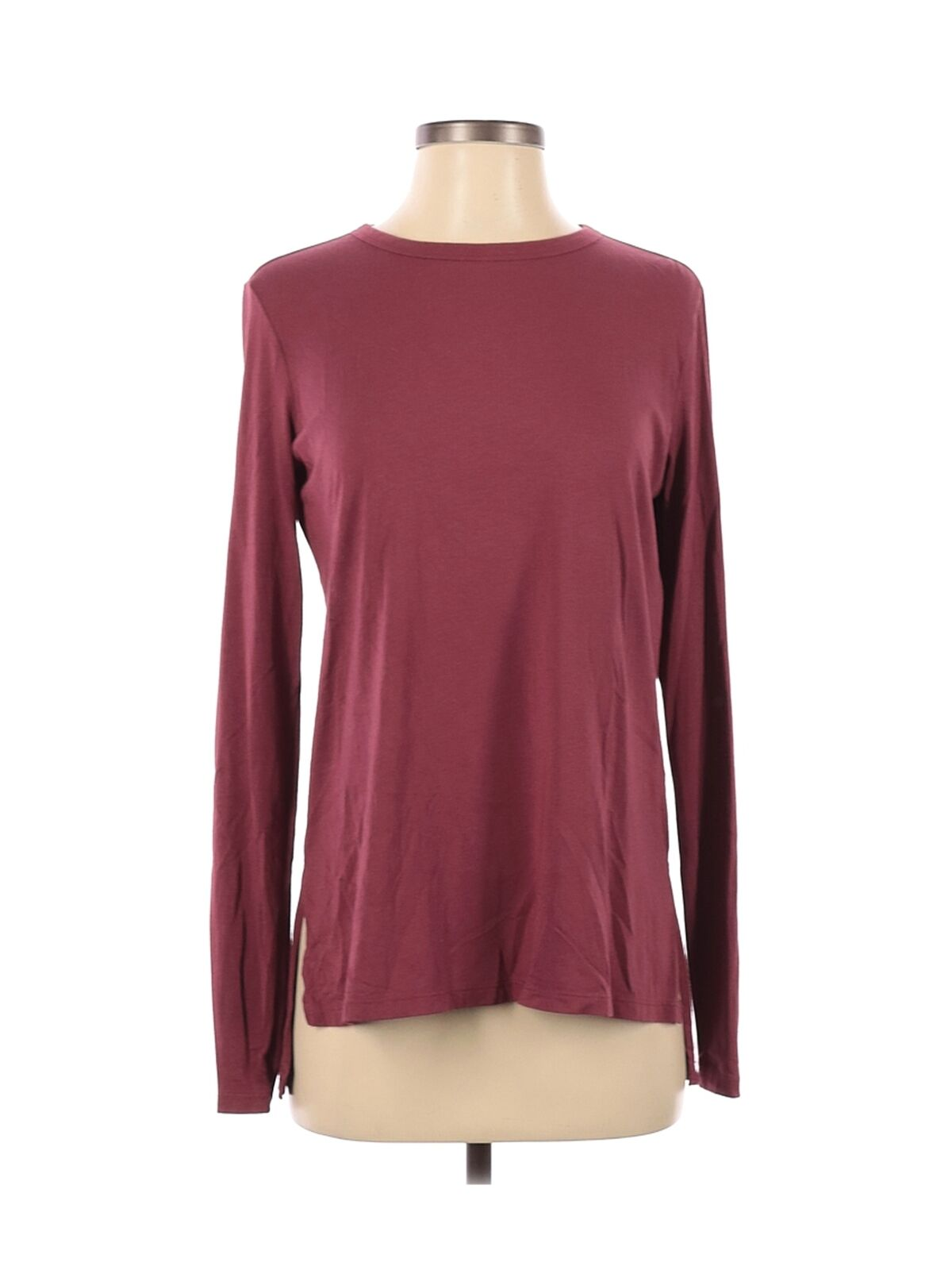 Theory Women Red Long Sleeve T-Shirt S - image 1