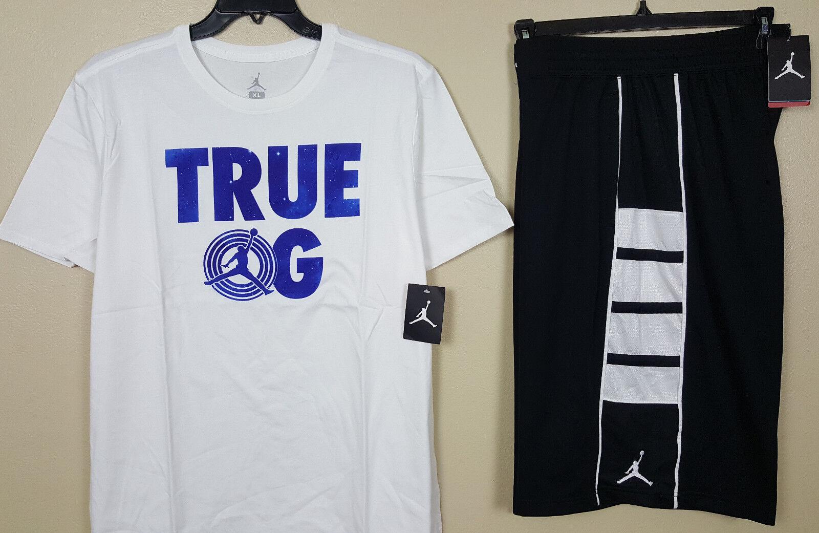 18fcd7d17e2 Nike Jordan Retro 11 True OG Outfit Shirt Shorts White Blue RARE ...