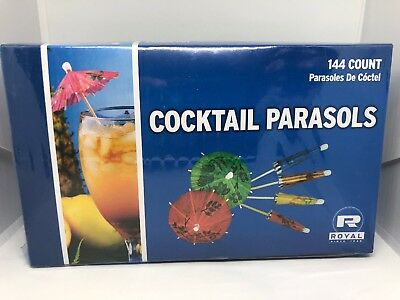 Wedding or Party Drink Umbrellas RP144 Royal Cocktail Parasols Pack of 144