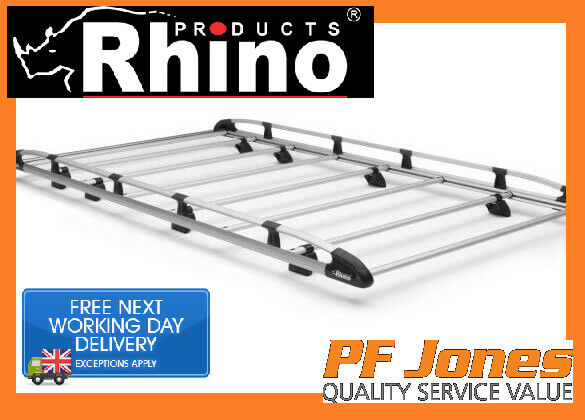 Rhino Aluminium Roof Rack For Ford Transit SWB MEDIUM ROOF 2000 - 2014  A529