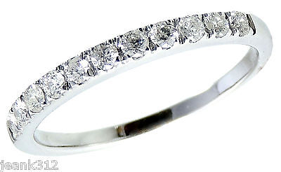 Diamond Wedding Ring Band 0.30 Carats Womens 14K White Gold Classic Traditional