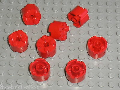 BRICK 3941 LEGO Y117 ROUND 2 x 2 TRANS NEON ORANGE x 2
