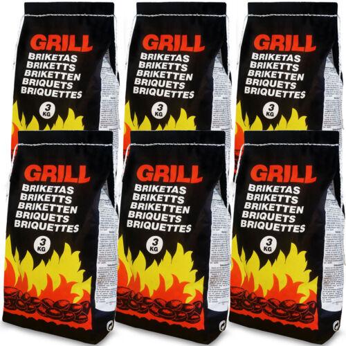BBQ Charcoal Briquettes Barbecue Grill Long Lasting 6 9 21 KG Fuel 18