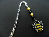 A TIBETAN SILVER  AND HONEY BEE CHARM BOOKMARK. NEW.