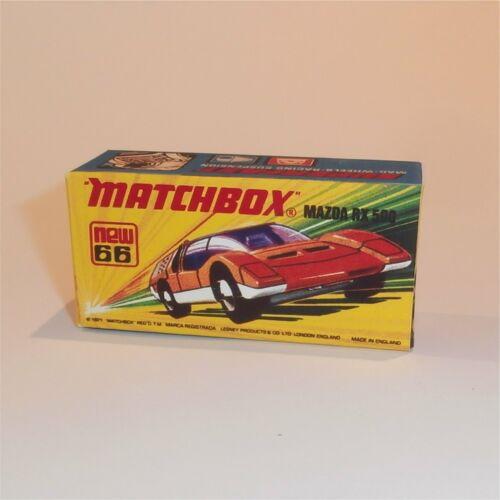 Matchbox Lesney Superfast 66 e Mazda RX 500 Empty Repro I Style Box