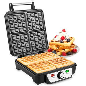 Savisto Electric Waffle Maker Machine Non Stick 4 Belgian Waffles