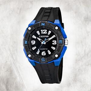 Calypso-Plastic-Pure-Men-039-s-Watch-K5634-3-Wristwatch-Black-Analogico-UK5634-3