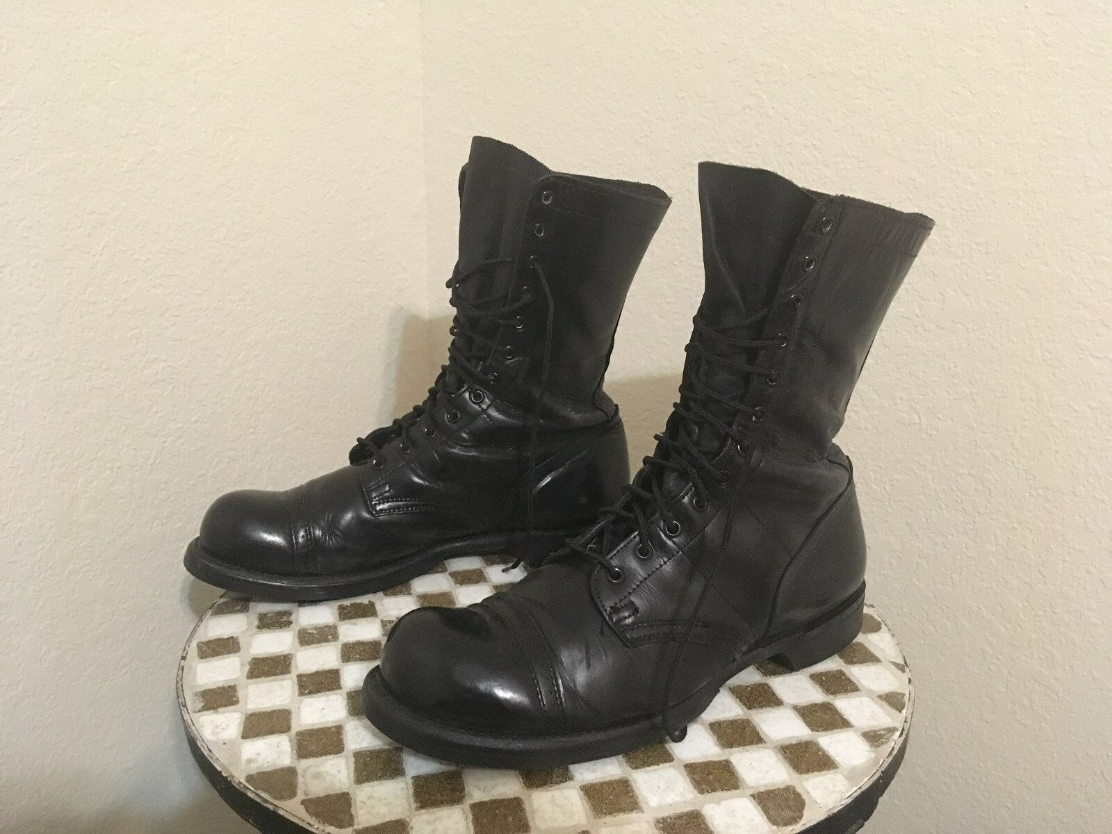 VINTAGE 1500 CORCORAN BLACK LACE UP E MILITARY DRILL Stiefel 11 E UP fafbac