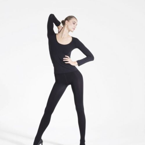 Royal Fashion Black 300 Den Thick Tights C.4063 Pantyhose Size M