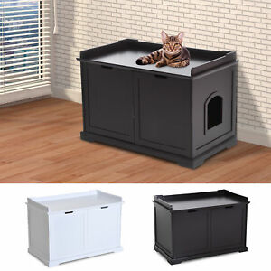 Attrayant Image Is Loading Cat Hidden Litter Box Enclosure Bench Hall End