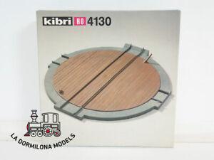 KIBRI-4130-H0-1-87-Wagondrehscheibe-Bausatz-kompl-keine-elek-1-unidad-OVP
