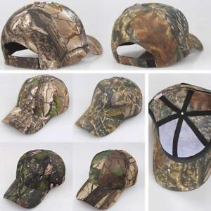 Men-Women-Camouflage-Adjustable-Cap-Camo-Baseball-Hunting-Fishing-Army-Sun-Hat