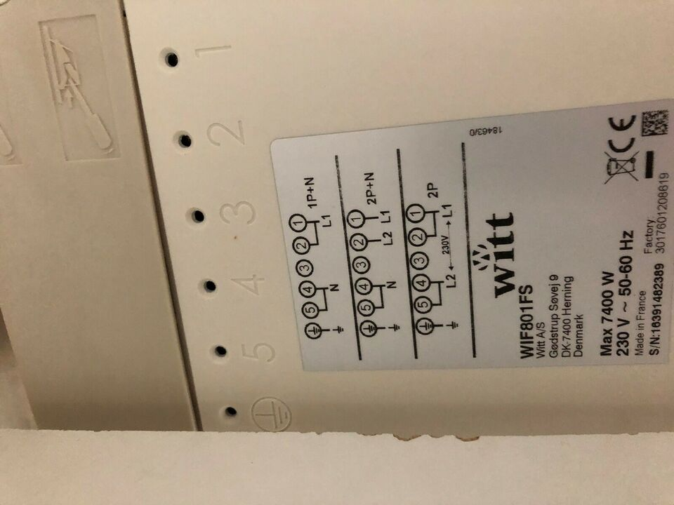 Induktionskogeplade, andet mærke Wif801fs