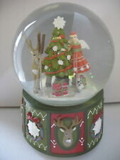 CHRISTMAS GIFT ALPINE FAIRY/REINDEER  MUSIC SNOW DOME ORNAMENT BY GISELA GRAHAM