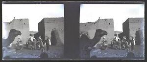 Algeria-Etnologia-Foto-Negativo-Stereo-V12L23n7-Placca-Da-Lente-Vintage-c1920