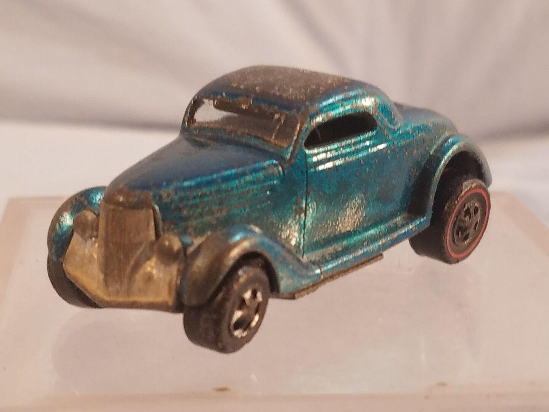 Vintage Mattel Hot Wheels  Redline 1968 CLASSIC 36 FORD COUPE Aqua   Teal - USA