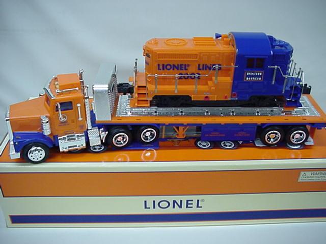 Tren Lionel Camión de Superficie Plana + Diesel Locomotora Taylor hizo + Hess baterías DTD