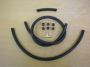 Triumph STAG ** FUEL PIPE KIT, rubbers** Under bonnet kit , filter to carbs. NEW