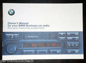 bmw business rds radio stereo cassette c33 c43 z3 original owner s rh ebay co uk 2009 BMW 650I Convertible 2004 BMW Owners Manual