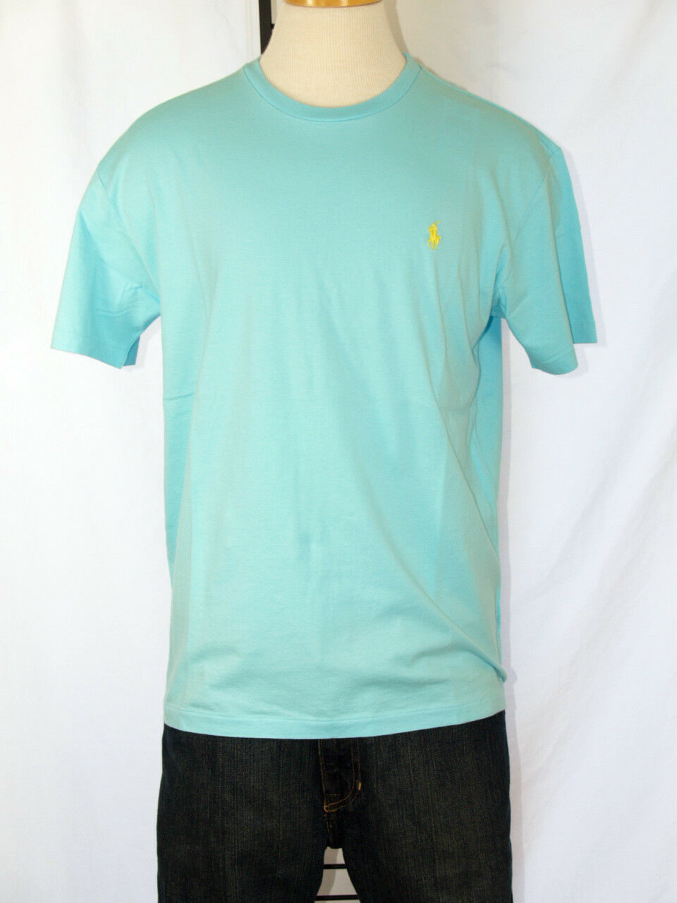 Polo Ralph Lauren Aqua T-Shirt Polo Pony 100% Cotton  XXL NWT