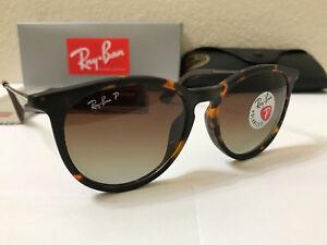 eddeae3ed1f Details about RAY-BAN Sunglasses Erika Polarized Matte Tortoise Frame  W Brown Gradient 54M
