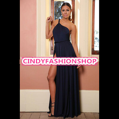 New Womens Clubwear Outfit One Shoulder Bodycon Bandage Jumpsuit Bodysuit Dress