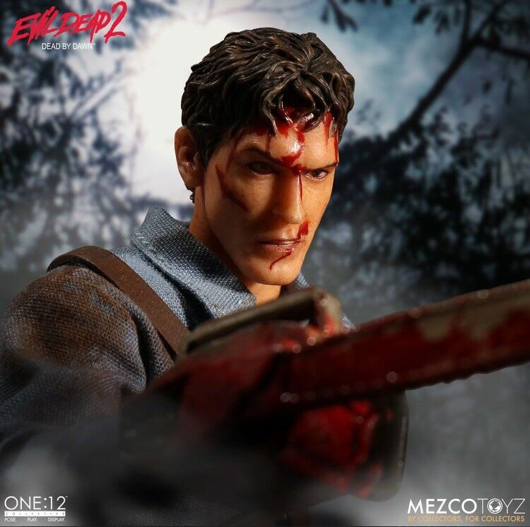 ONE 12 Collective Evil dead 2  Ash Figure with Accessories By Mezco Toyz