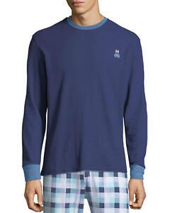 Psycho Bunny Men/'s Galaxy Blue Large Glow Bunny Crew-Neck Short Sleeve T-Shirt