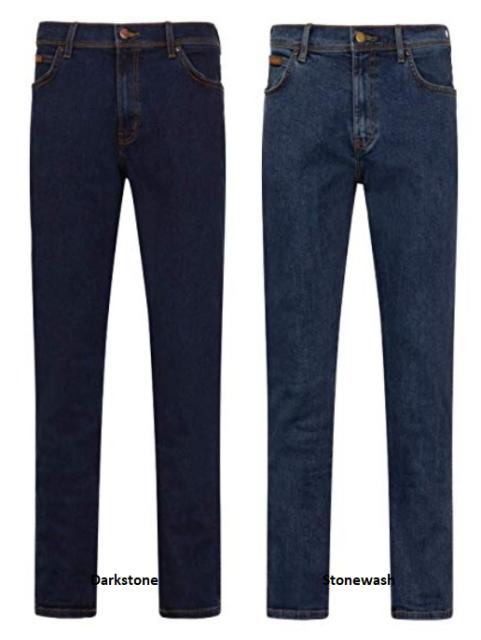 Mens Wrangler Texas stretch regular fit denim jeans FACTORY