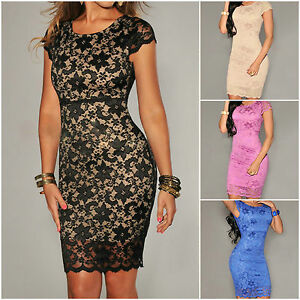 womens lace dress floral evening cocktail party wedding