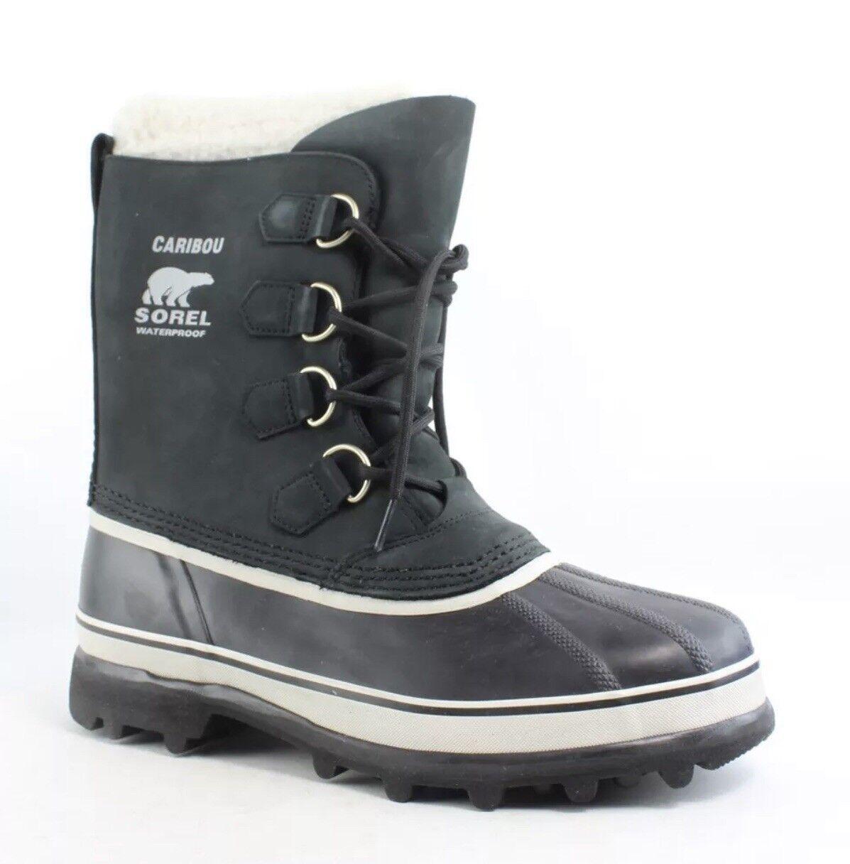 marchi di stilisti economici NIB donna's Dimensione 10 SOREL SOREL SOREL Caribou nero   Stone Waterproof Winter stivali  esclusivo