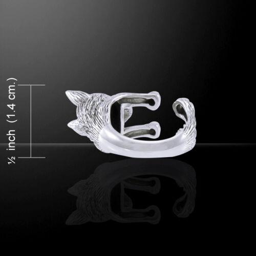 Husky Sibérien Chien Anneau Peter Stone .925 Sterling Silver Jewelry