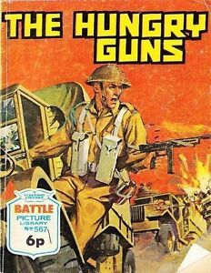 A-Fleetway-Battle-Picture-Library-Pocket-Comic-Book-Magazine-567-The-Hungry-Gun
