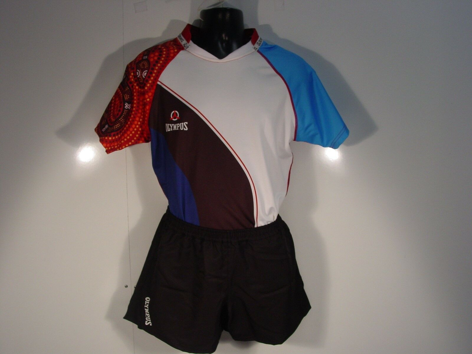 Olympus Rugby SET 4WayStretch Short Sleeve Jersey & Shorts Adult L INV DOT