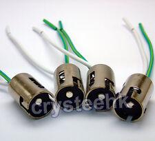 4 Pcs 1156 LED Light Bulb Socket Holder w/wire connector for Car Truck S25 BA15S
