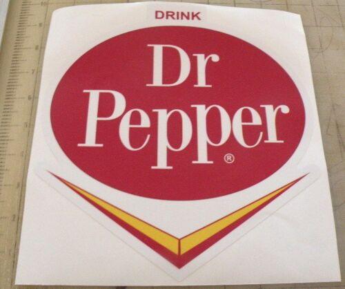 """Vintage Dr Pepper /""""V/"""" sticker decal 15/""""x15/"""""""