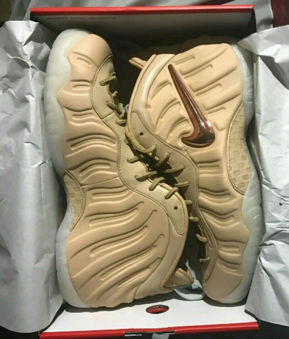 Nike Air Foamposite Pro Vachetta Tan Leather Premium All-Star Kith Sneakers shoe