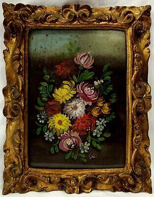 Quadro OLIO Ölbilder dipinto immagini immagine dipinti a mano olio con cornice barocco cavallo g05496