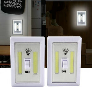 2-4-COB-portatil-NOCHE-DE-PILAS-4-PANEL-LED-SIN-CABLE-INTERRUPTOR-LUZ-Cambiar
