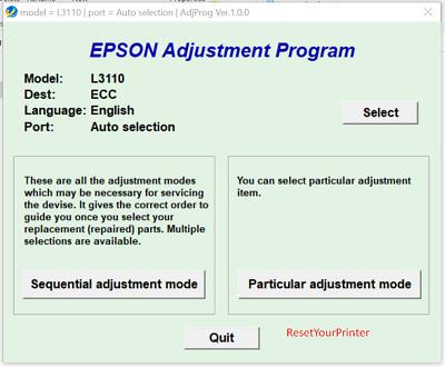 Epson L3110 Adjustment Program With Keygen,Reset Epson L3110 Keygen 100%  Tested | eBay